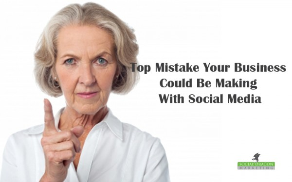 Top mistake on social media