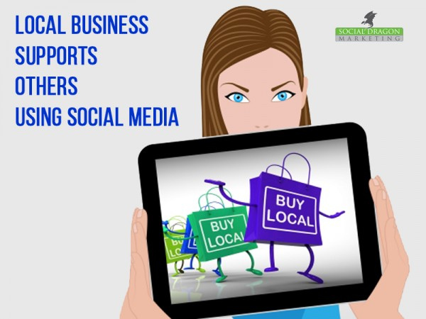 Local business supports other businesses with social media