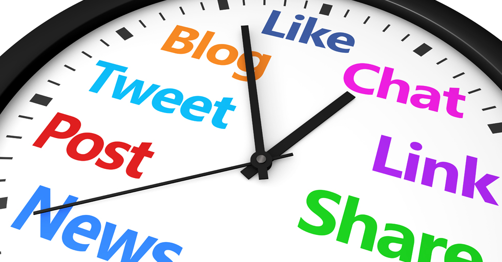 Best time to post social media